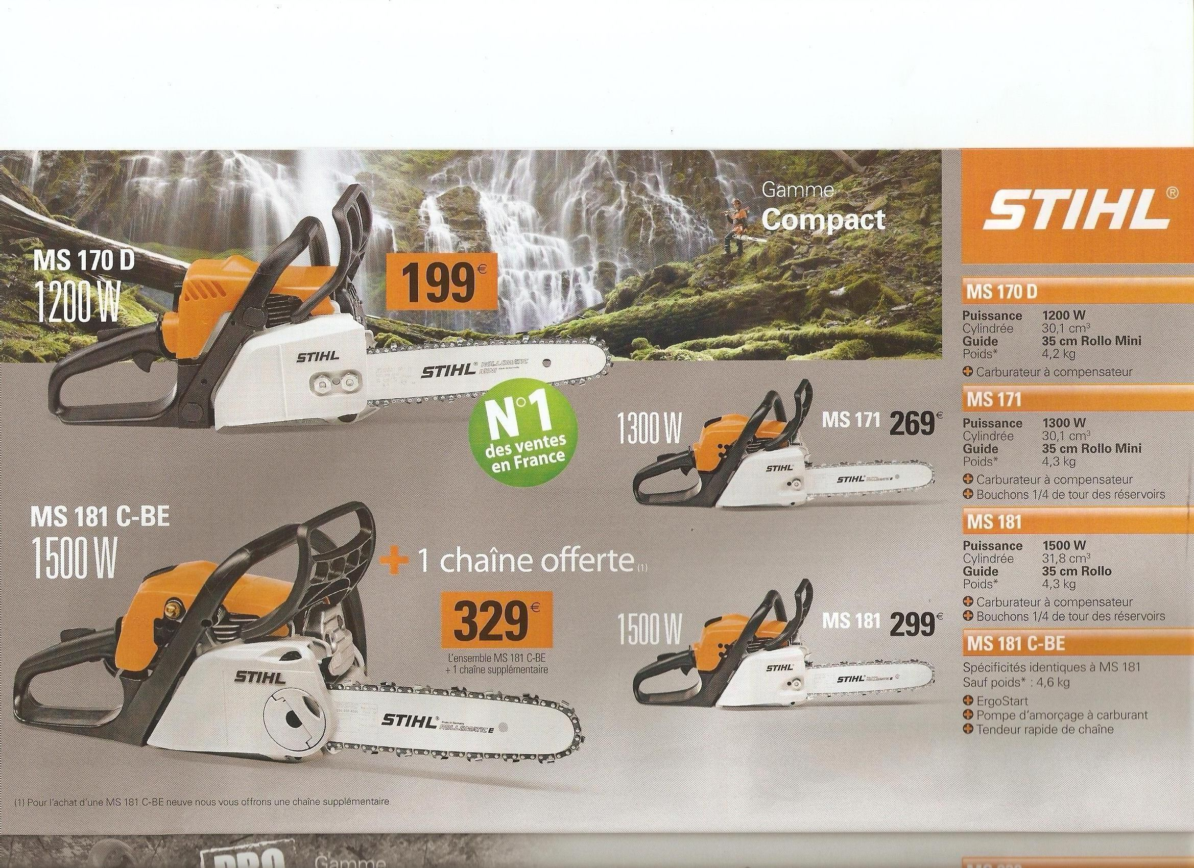 arrivage des tronconneuses stihl. Black Bedroom Furniture Sets. Home Design Ideas